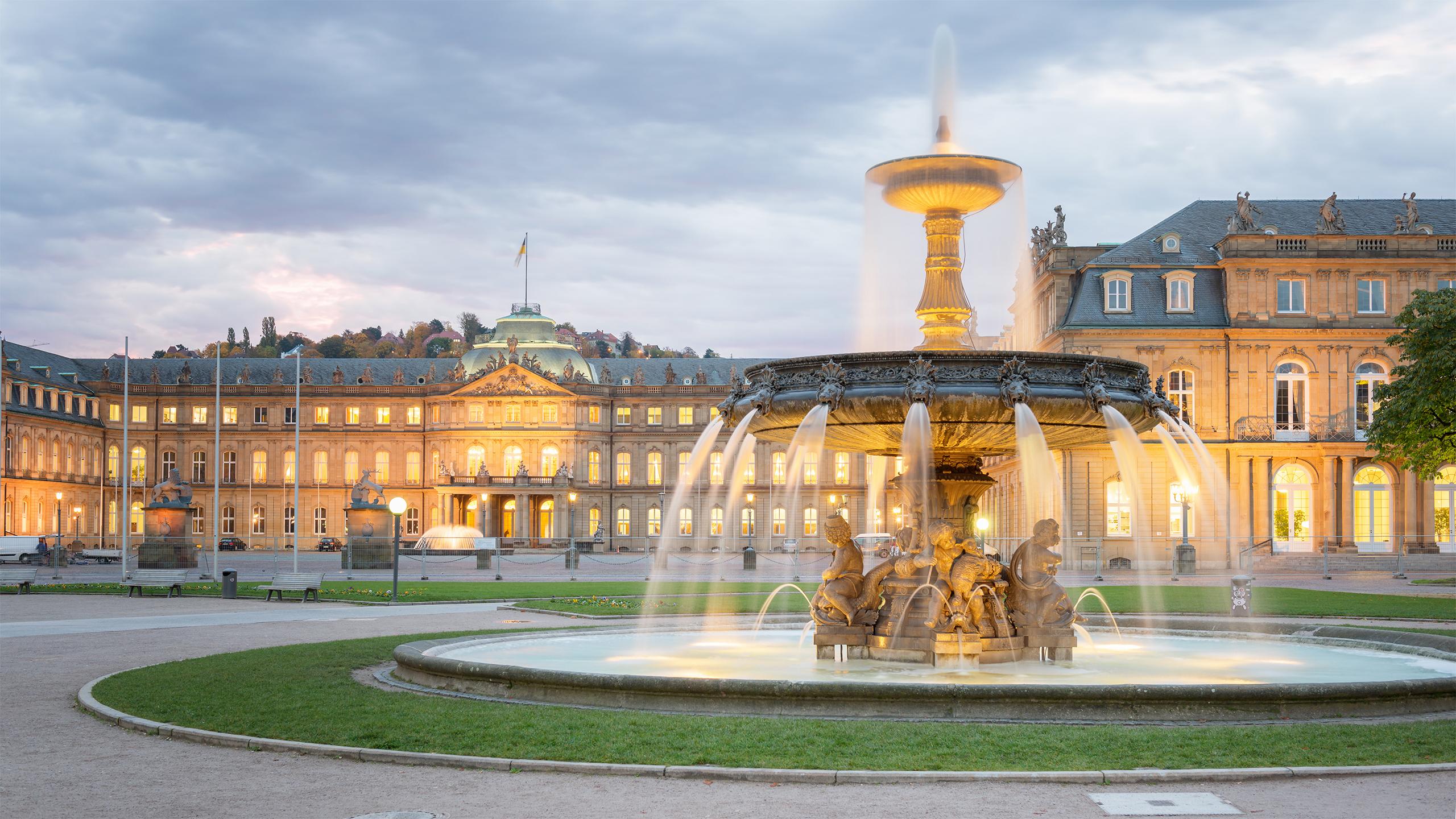 Springbrunnen am Schlossplatz Stuttgart